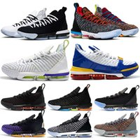 16 16s Mens Basketball Shoes SuperBron Equality Fresh Bred I...