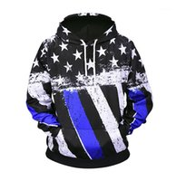 Estilo Sports Hommes Hoodies Plus Size Mens Hoodies da bandeira americana Printed Side Seam bolso Hoodies Designer