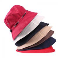 Wholesale unissex mulheres homens balde chapéu boonie caça de caça de pesca outdoor tampão homens verão outono chapéus 2019 venda quente