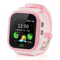 Y21S GPS Crianças relógio inteligente Anti-Lost Lanterna do bebê inteligente Relógio de pulso SOS Chamada Localização dispositivo rastreador Kid Seguro Pulseira vs DZ09 U8 Assista