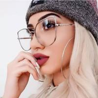 2020 mulheres olho óculos novo ouro forma fundo lentes claras as mulheres gato quadro mental, óculos de segurança sol Óculos Retro UV Outdoor 400 eyewear