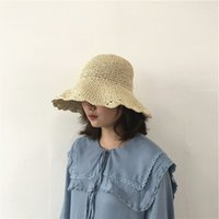 4f8e473f New Arrival. Straw hat with scalloped lace women summer cap Korean version  ...