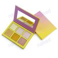 palette sans logo 6 couleurs pour surligneur et fard à paupières palette de poudre dorée violet accepter votre logo