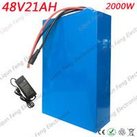 48 볼트 전기 자전거 배터리 48 볼트 20AH 1000 와트 리튬 배터리 48 볼트 20AH 스쿠터 배터리 BMS 54.6 볼트 2A 충전기