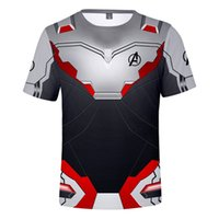 The Avengers 4 Endgame Quantum Realm Cosplay T-Shirt Uomo Costume Maschile Magliette Top Tee Ypf266