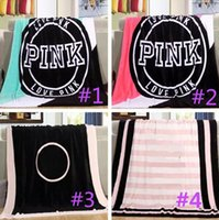 5 Colors Love Pink Letter Blanket Soft Coral Velvet Beach To...