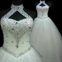 Fengycresress 웨딩 드레스 민소매 섹시 백리스 스팽글 파란색 스커트 플러스 사이즈 신부 가운