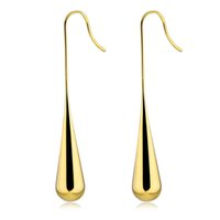 새로운 여성 귀걸이 워터 드롭 모양의 귀걸이 간단한 골드 디자인은 여성을위한 샹들리에 귀걸이 매달니까 생일 선물