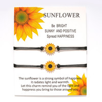 Vintage Jewelry Adjustable Sunflower Bracelets Wish Rope Bra...