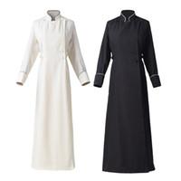 Women Church Priest Cassock White Black Choir Minister Robe Clergy Preekstoel Liturgisch Kostuum Snelle Zending Nieuw