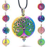 Bunte Engel Ball 015 Aroma Diffusor Halskette Öffnen Antike Vintage Anhänger Parfüm Ätherisches Öl Diffusor Medaillon Halskette