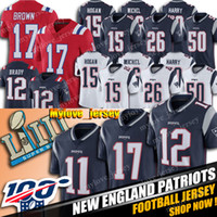 17 Antonio Brown Jersey 12 Tom Brady Jersey New Englan Patriot Jersey 50 NKeal Harry Jerseys 11 Julian Edelman 26 Sony Michel Hogan Jerseys