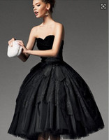 Robe de bal robe dentelle robes de soirée en dentelle couchette longueur de thé robes de bal avec gaine robe velours de velours sans bretelles EV028
