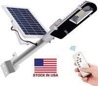 Voorraad in US + CNSUNWAY 60W 180W Super Kwaliteit LED Solar Street Light met afstandsbediening Dimmen / Timing Waterdichte IP65 voor Water Yard Garde