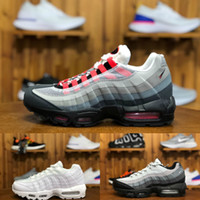 Nike Air Max 95 shoes New Airmax 95 Billig og Herren Laufschuhe 95ss Universität Gold gezüchtet Gym Rot Laser Fuchsia Gradient Weiß Blau Klassische Schwarze