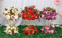Custom 47cm artificial flower ball centerpieces+1m peonies flower row arrangement supply decor wedding arch table flower bouqet