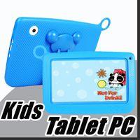 """838 Детский бренд планшетный ПК 7 """"четырехъядерный детский планшет Android 4.4 Allwinner A33 Google Player WiFi большой динамик защитная крышка M-7PB"""