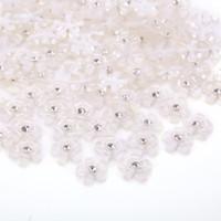 TPSMOC 10mm 200pcs Fleur de résine mignonne avec Cabochon à plat en strass pour DIY Scrapbooking, Nail ArtDécoration Perles Craft