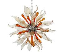 Contemporary Colorido moderno do vidro de Murano Swan candelabro de vidro de Murano lustre clássico Lamp Murano Vidro Shell Candelabro Luz