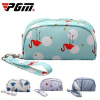 PGM Protable Golf Handbag Donne Zipper Up impermeabile Handbag Ladies Sweet Borse stampa per Golf Tee / Towel / Ball D0733