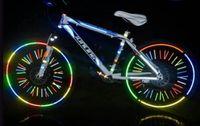 반사 스티커 자전거 스티커 오토바이 자전거 반사경 자전거 사이클링 보안 휠 림 데칼 테이프 안전한 bisiklet 양질