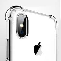 울트라 얇은 투명 투명 TPU 실리콘 케이스 아이폰 XS 7 8 플러스 보호 고무 전화 케이스 아이폰 X