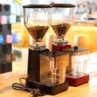 300 واط كفاءة القهوة الفول طحن آلة كهربائية 1 كيلوجرام قدرة إسبرسو طاحونة القهوة 220 فولت 19 التروس مسحوق حجم قابل للتعديل
