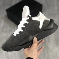 2020 Y3 Kaiwa Sneakers homens do desenhista Luxury Shoes Y3 Chunky Platform Sports Shoes Mulheres Preto Branco Couro Trainers Big Size Com Box