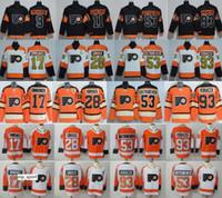 필라델피아 전단지 28 Claude Giroux Jersey Hockey 9 Provorov 11 Konecny 53 Gostisbehere Stadium Series 2012 Winter Classic