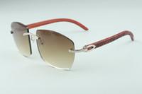 Hot novos óculos A4189706-6 tigre templos de madeira, fábrica de qualidade superior direto óculos de moda unissex
