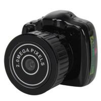 Y2000 Mini Camera menor câmera de bolso Camera Mini DV Recorder Micro DVR vídeo portátil Webcam Com Keychain 20 PCS / LOT