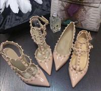 Neue Stil Europäische Mode Niete Kleid High Heels High Grad Leder Frauen Dame Heel Schuhe Sandalen OCM 6 cm 8 cm 10cm Ferse EUR35-41 mit Box