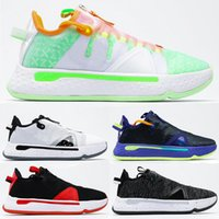Mens Women Basketball Shoes Paul George PG 4 PG 4 NASA EP Gatorade Bianco All Star PG4 Outdoor Design Sport Sneakers Chaussures 40-46