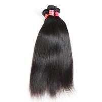 Прямые волосы Пучки бразильского человеческих волос ткачество Natural Color Ali Queen волос Продукты Плетение Связка