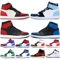 Barato 1 alta OG Baned toe Homem-Aranha UNC 1s top 3 Mens sapatos de basquete Homage To Home Chicago Azul Royal Men Sports Designer Sneakers
