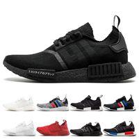 En iyi Kalite R1 Koşu Ayakkabıları Erkek Kadın Japonya Üçlü Siyah Beyaz tri-Gri tüm kırmızı OG beyaz mavi r1 Spor Sneakers Eğitmenler 36-45