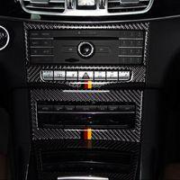 자동차 중앙 제어 에어 컨디셔닝 CD 패널 장식 커버 트림 탄소 섬유의 경우 메르세데스 벤츠 E 클래스 W212 2014-15