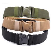 Exército Militar Thicken Canvas cintura ajustável de Outdoor Homens Belt Tactical 140cm Homens Mulheres Esporte Militar plástico fivela de cinto