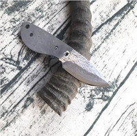 2,17 pollici Coltello fai da te Billette VG10 Damasco Steel Blade Drop Point Point Blades 'Blades Blades Full Tang Steels Maniglia H2111