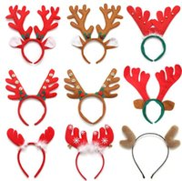 Rentier Geweih Stirnband Weihnachten Ostern Halloween Party DIY Frauen Girs Kid Deer Ear Party Hairband Hochzeit Schmuck Geschenk