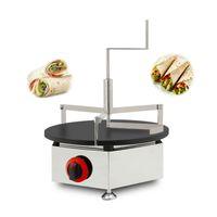 Krep Yayıcı Set Ticari Gaz Krep Makinesi Yapışmaz LPG Gas 40cm Krep Makinası Gözleme Makinesi Baker Demir