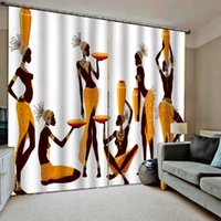 مخصص أي حجم الصورة الرجعية الجمال الستائر 3d نافذة ستارة 3D طباعة الفاخرة تعتيم غرفة المعيشة