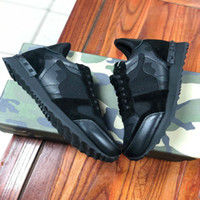 Original box fashion rivet camouflage sneakers top quality m...
