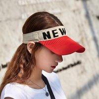 New Sun del verano viseras sombrero gorras deportivas secar rápidamente los sombreros de Sun de los viseras Deportes Para Mujeres genuino Negro Playa de sombrero blanco