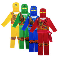 Ninjago Costumes Cosplay Garçons Vêtements Ensembles Super-Héros Cosplay Garçon Ninja Costume Filles Halloween Party Dress Up Streetwear Enfants