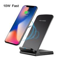 Qi chargeur sans fil Support pour iPhone X XS 8 XR Samsung S9 S10 S8 S10E rapide sans fil Station de recharge chargeur de téléphone stand