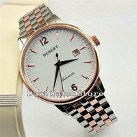 40mm Debert Date Stainless Steel Band White Dial MIYOTA 8215...