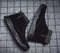 Nuovo Fly uomini stivali patchwork maglia stivali invernali caviglia esterna stivali Martin Brown scarpe da ginnastica nere taglia 40-44