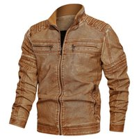 Mens Designer Leather Jackets Fashion PU Vintage Luxury Jack...