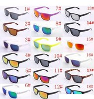 Lunettes de soleil de luxe UV400 Protection 9102 Sports Sunglasses Hommes Femmes Unisexe Summer Shade Eyewear Vélo Extérieur Verre Sun Verre 18 Couleur